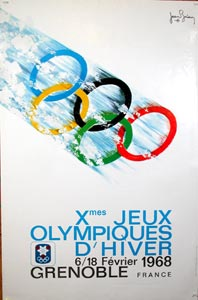olympiques grenoble poster 1968