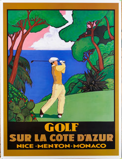 golf alpin poster